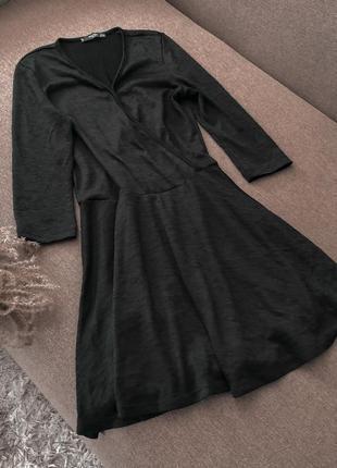 Платье чёрное mango классика базовое6 фото