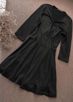 Платье чёрное mango классика базовое4 фото