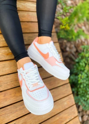"""Кроссовки nike air force shadow """"white corall pink"""""""