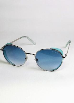 Очки солнцезащитные ch 9111 голубые хром круглые тишейды.