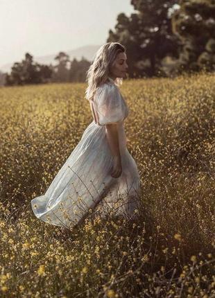 Zara платье с вышивкой, s9 фото