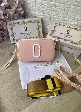 Жіноча сумка клатч крос боді jacobs в кольорах рожевий