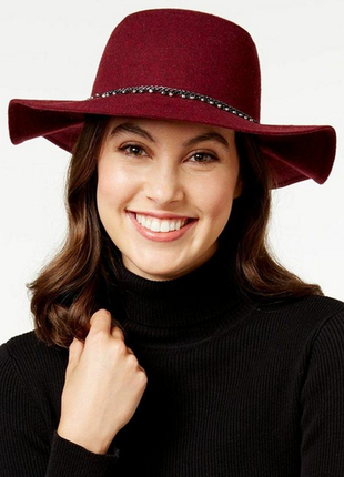 Бордовая шляпа флоппи фирмы bcbgeneration