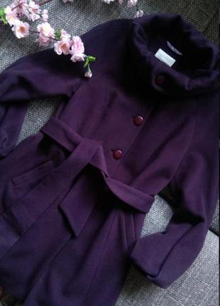 Пальто шерсть+ангора с поясом германия  gottlich