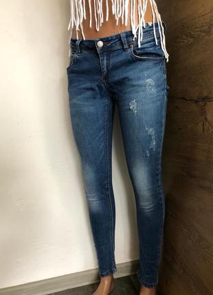 💫женские джинсы классически pull&bear slim fit