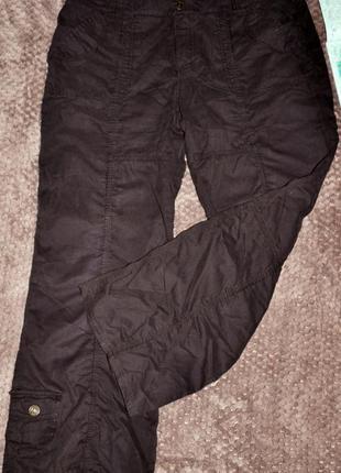 Коричневые спортивные брюки street one. 44/46 размер