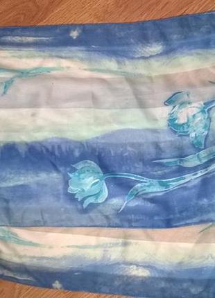 Шикарный голубой шарфик