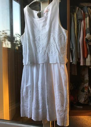 Белый сарафан / белое легкое короткое летнее платье