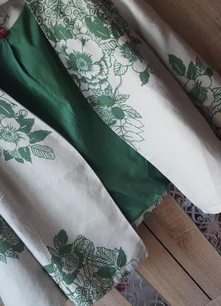 Изысканный пиджак/жакет в цветочный принт