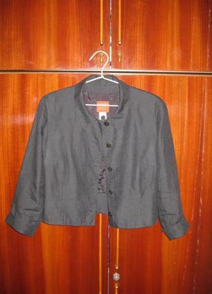 Льняной пиджак болеро жакет 100% лён из льна винтаж kenzo в стиле шанель ☕ 42р