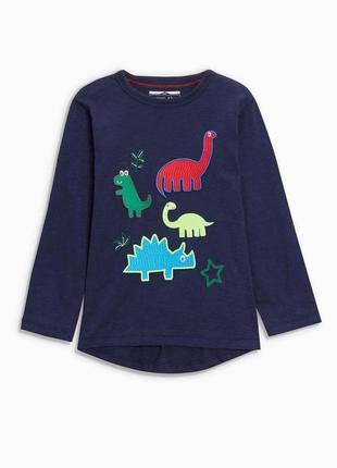 Яркий реглан next  с динозаврами
