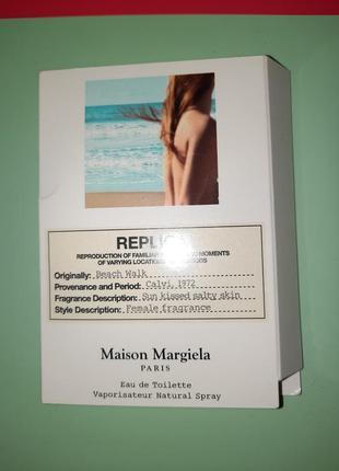 Пробник духов maison margiela replica beach walk1 фото