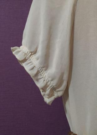 Женственная блуза футболка шелк бант2 фото
