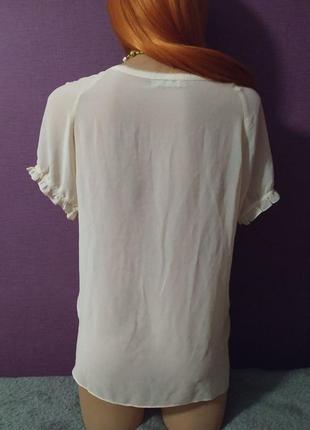 Женственная блуза футболка шелк бант4 фото