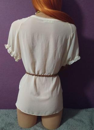 Женственная блуза футболка шелк бант5 фото