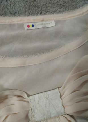 Женственная блуза футболка шелк бант9 фото