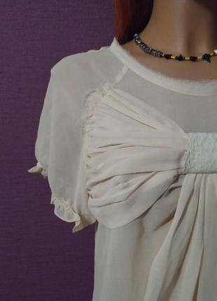 Женственная блуза футболка шелк бант6 фото
