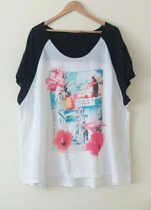 Супер красивая блуза футболка батал