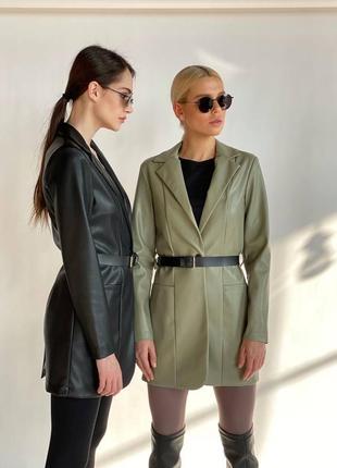 Классный кожаный пиджак