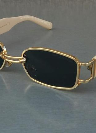 Gentle monster очки унисекс солнцезащитные узкие черные в золоте с сережкой