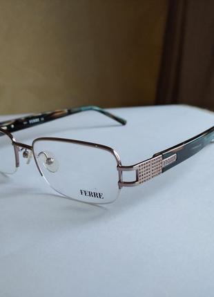 Фирменная полуободковая оправа под линзы,очки оригинал gf.ferre gf34304