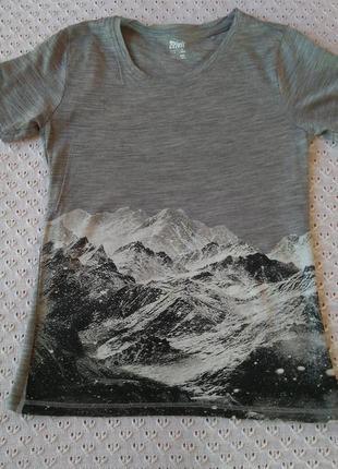 Термофутболка з мериносової вовни футболка термо спортивна шерсть мериноса термобелье