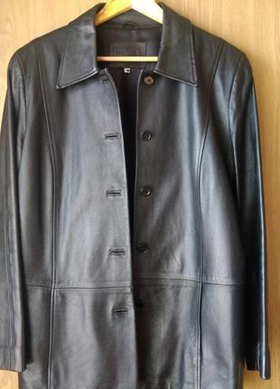 Кожаный пиджак marks&spencer , р.16