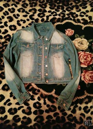 Куртка джинсовая пиджак джинсовый