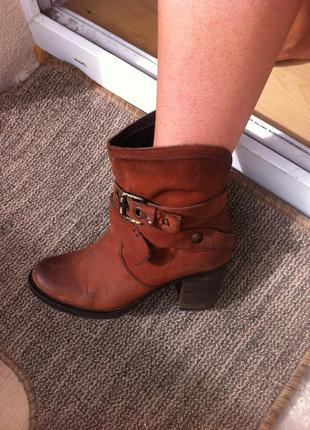 Кожаные ботинки осень-весна, новые