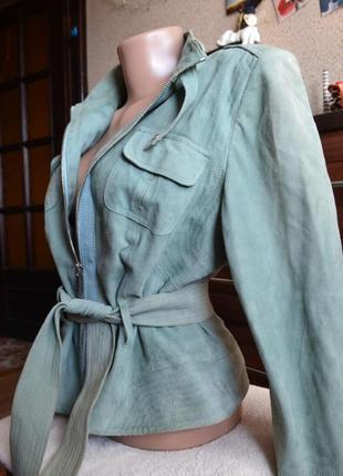 Karen millen кожаная брендовая демисезонная куртка