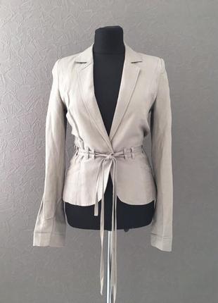 Пиджак из льна, стильный, на подкладке