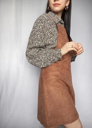 Сарафан под замш трендовый на подтяжках стильный платье на замке2 фото