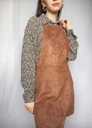 Сарафан под замш трендовый на подтяжках стильный платье на замке3 фото