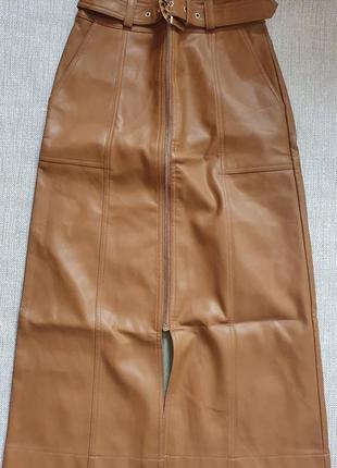 Акуальна юбка із еко-шкіри , river island
