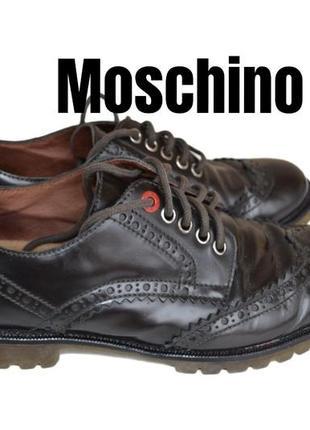 Moschino броги на тракторной прозрачной подошве