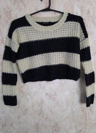 Укорочённый свитер кроп qed london s