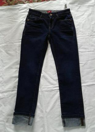 Джинсы темно синие с манжетами (c подворотами) s.oliver