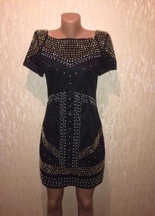 Шикарное платье в бусинах и камнях french connection