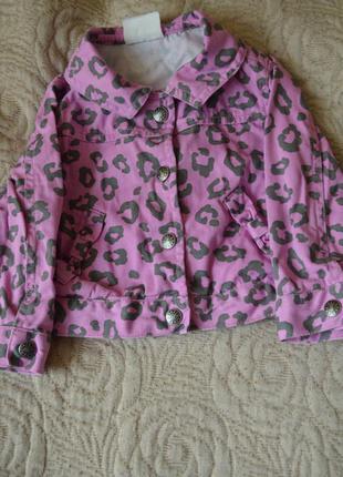 Стильная джинсовая куртка crazy 8 12-18 мес