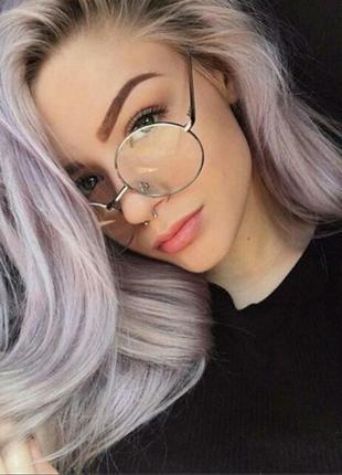 Трендовые круглые очки. стильные аксессуары. новые
