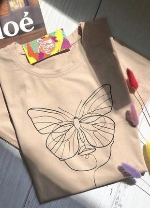 Женская футболка «бабочка»