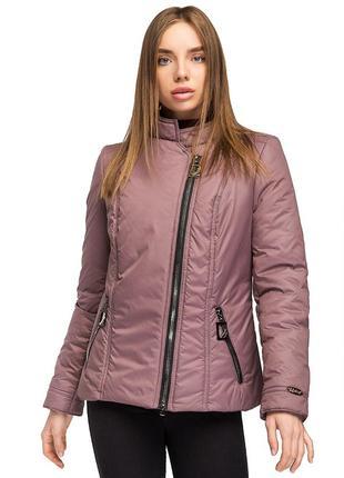 Куртка, косуха женская демисезонная леона / р.48-58 / мокко