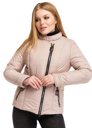 Куртка, косуха женская демисезонная леона / р.48-58 / беж