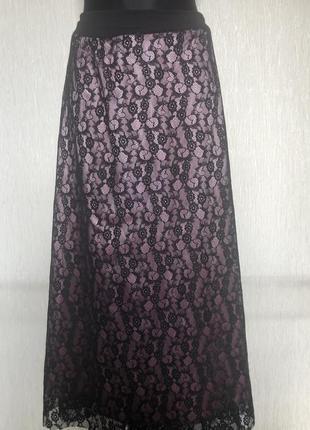 Юбка женская длинная кружевная