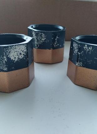 Набор кашпо для растений/свечей