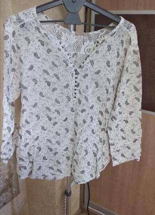 Легкая невесомая блузка хб