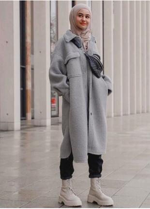 Пальто рубашка  оверсайз h&m оригинал