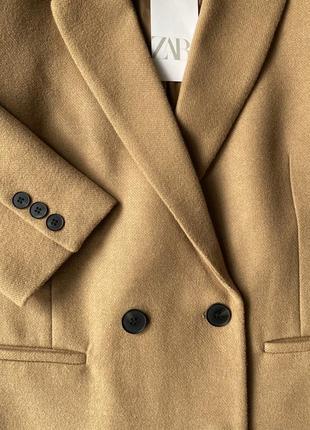 Бежеве пальто zara. абсолютно нове, з біркою. l.