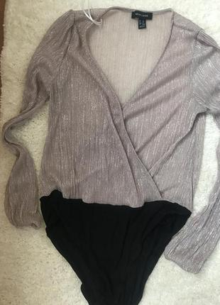 Нарядная блуза-боди new look