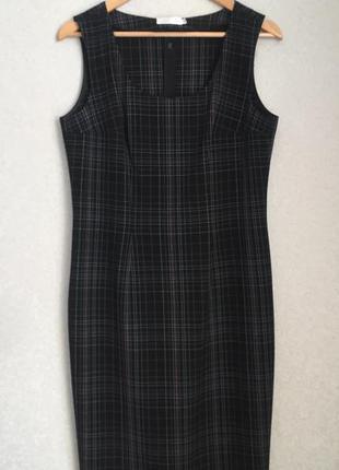 Чёрный платье-сарафан в клетку natali bolgar